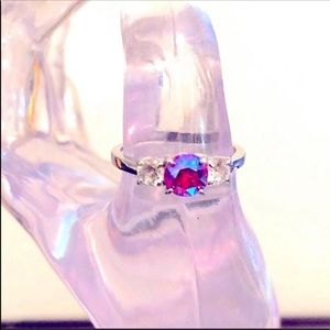 Fragrant Jewels | Fire Ruby and CZ Ring